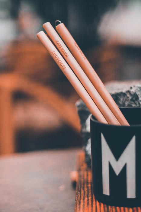 Zwitschere dein Lieblingsgetränk aus den Bambusstrohhalmen der Birdy-Edition
