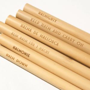 Die sechs Bambusstrohhalme der Smoothie Edition