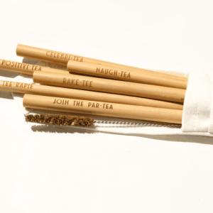 It´s always Teatime mit unseren Bambusstrohhalmen
